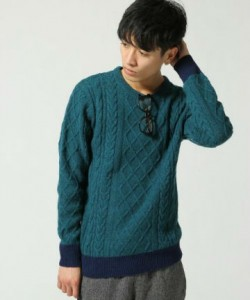 グリーン セーター