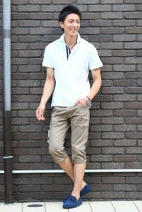 白のポロシャツ,お洒落