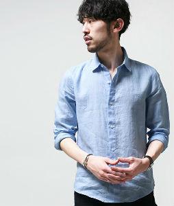 ライトブルーのシャツ,お洒落