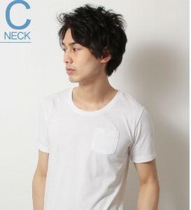 UネックTシャツ,メンズ