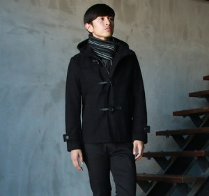 黒のアウター メンズファッション