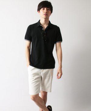 黒のポロシャツ キレイめコーデ