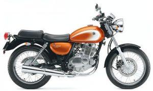 オレンジ 250ccバイク