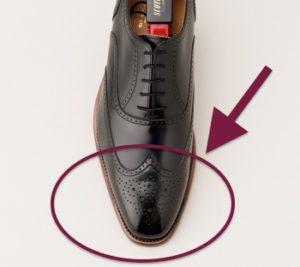 ウイングチップの革靴