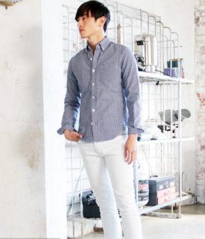ギンガムチェック柄のシャツ メンズ