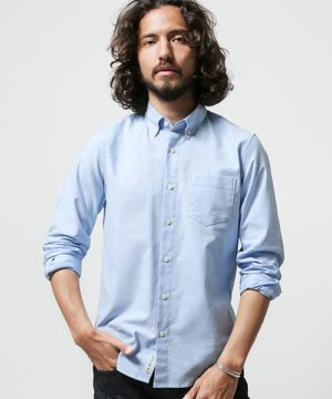 ライトブルーのシャツ メンズファッション