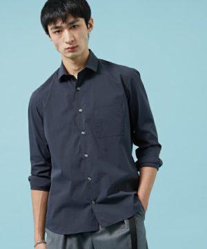 ネイビーのシャツ 秋コーデ