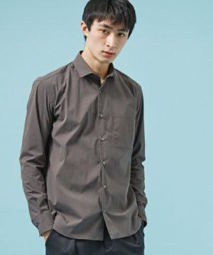 グレーのブロードシャツ メンズブランド