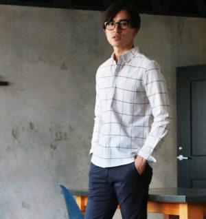 ウィンドペン柄のシャツ メンズ ブランド