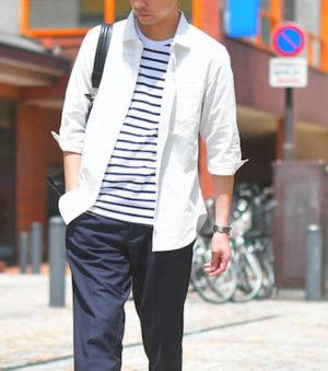 ベーシックなボーダー柄Tシャツ メンズファッション
