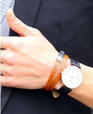 腕時計との重ね付け ブレスレット