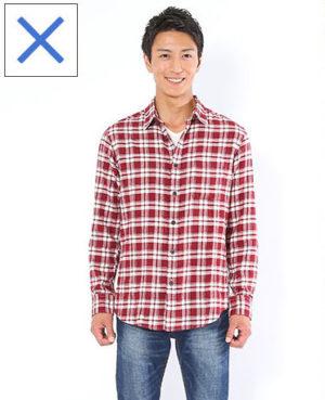 ダサい チェックシャツ メンズ