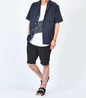 オープンカラーシャツ 夏