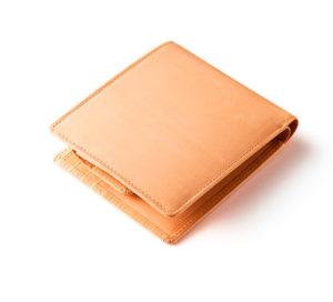 ライトブラウン 二つ折り財布