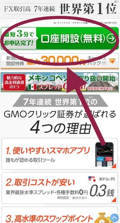 GMOクリック証券 スマホ申し込み