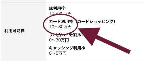 三井住友カード 限度額