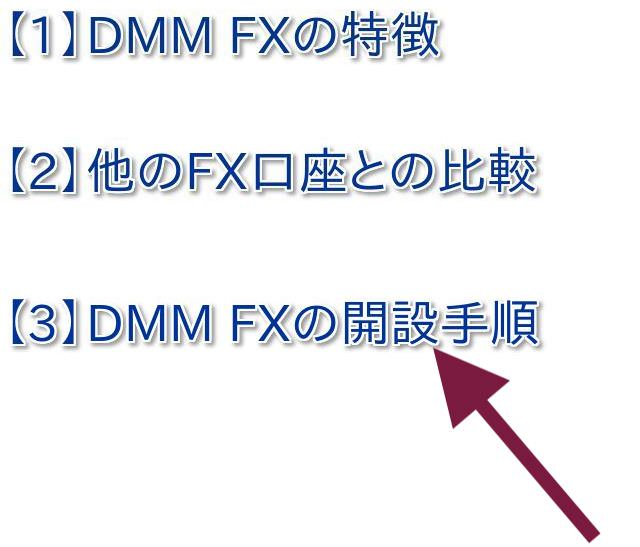 DMM FX口座の開き方